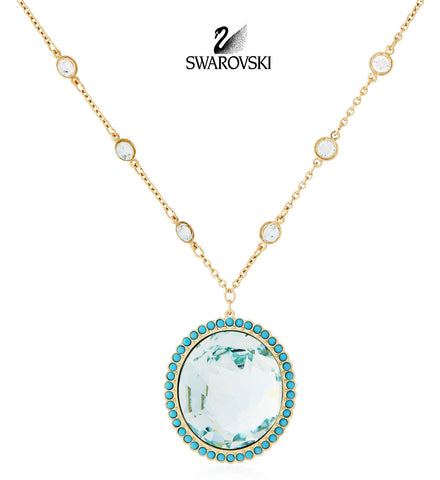 $160 Swarovski Color Crystal AZORE  Pendant Necklace Large #5037451 - Zhannel  - 1