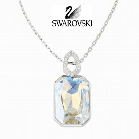 $195 Swarovski Large Crystal Pendant Necklace EVANESCENT #933563 New - Zhannel  - 1