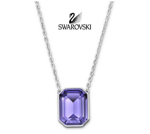 Swarovski Tanzanite Crystal Pendant Necklace VINI #5007824 New - Zhannel  - 1
