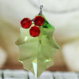 Swarovski Crystal Christmas Figurine Ornament HOLLY LEAF ORNAMENT #5103222 - Zhannel  - 2