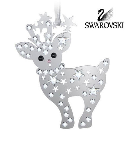 Swarovski Crystal Christmas Figurine Christmas Ornament BABY REINDEER #5004501 - Zhannel  - 1