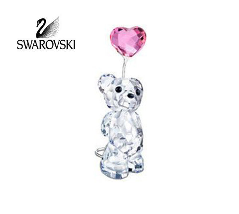 Swarovski Crystal Figurine I LOVE YOU Kris Bear with Heart Balloon #842933 - Zhannel  - 1