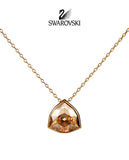 Swarovski Amber Crystal BRIEF PENDANT NECKLACE Golden Shadow #5098369 - Zhannel  - 1