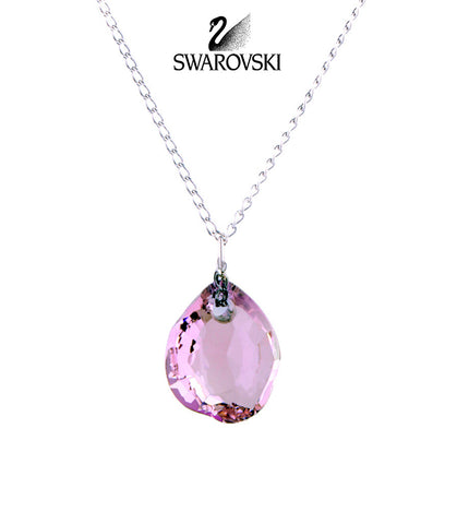 Swarovski Pink Crystal MINI NEON ROSALINE Necklace #1076311 - Zhannel  - 1