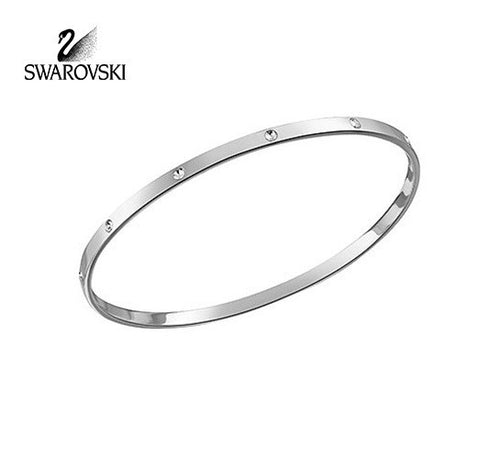 Swarovski Clear Crystal BANGLE Bracelet with crystals Rhodium Plated #959257 - Zhannel  - 1