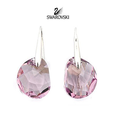 Swarovski Pink Crystal JEWELRY Pierced Earrings GALET Light Amethyst #856299 - Zhannel  - 1