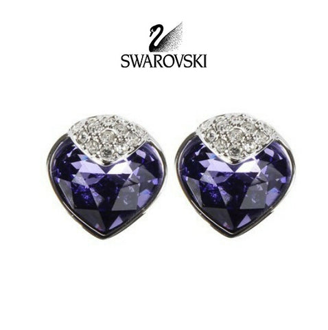 Swarovski Purple Crystal JEWELRY Pierced Earrings OCEANIC Tanzanite #933608 - Zhannel  - 1
