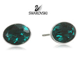 Swarovski Green Crystal JEWELRY Pierced Earrings BIS Emerald Rhodium #5085600 - Zhannel  - 2
