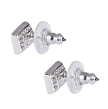Swarovski Clear Crystal JEWELRY Pierced Earrings PRIME STUDS Rhodium #1106447 - Zhannel  - 2