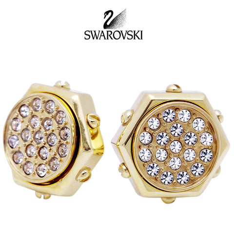 Swarovski Clear Crystal JEWELRY Pierced Earrings BOLT Gold #5081366 - Zhannel  - 1