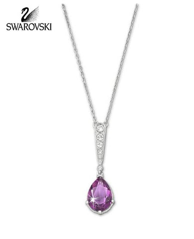 Swarovski Amethyst Crystal JEWELRY VINTAGE Pendant NECKLACE #5007794 - Zhannel  - 1