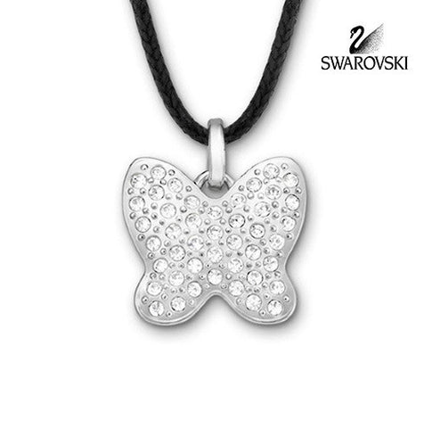 Swarovski Clear Crystal JEWELRY BUTTERFLY MINI Pendant Necklace #5020068 - Zhannel  - 1