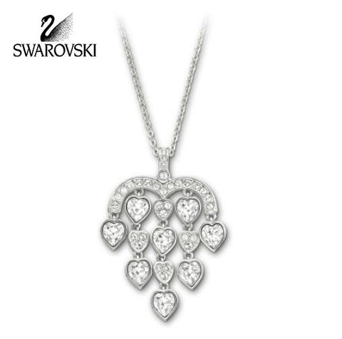 Swarovski Clear Crystal JEWELRY SENSIBLE Pendant HEARTS Necklace #1156280 - Zhannel  - 1