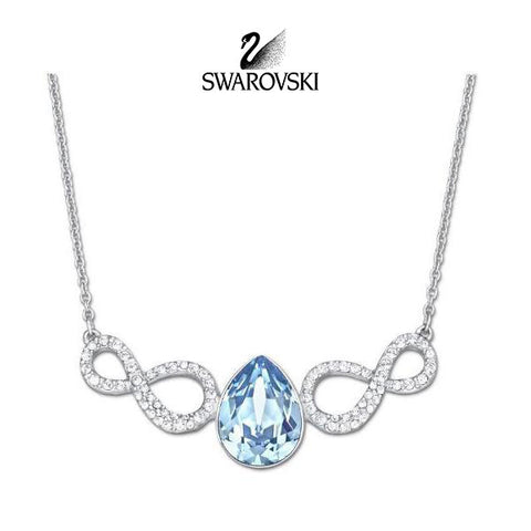 Swarovski Aqua Blue Crystal JEWELRY AFIRE Necklace #5038191 - Zhannel  - 1