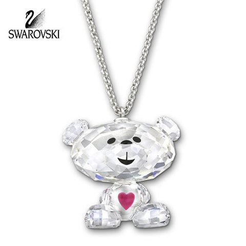 Swarovski Clear Crystal JEWELRY BO BEAR SWEET Pendant #1151917 - Zhannel  - 1