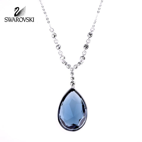 Swarovski Blue Crystal JEWELRY MERINGUE Montana Necklace #1062666 - Zhannel  - 1