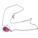 Swarovski Pink Crystal JEWELRY TWISTY Rose PENDANT Necklace #1182707 - Zhannel  - 2
