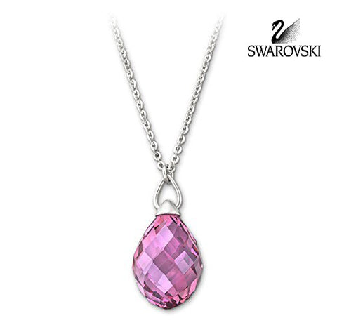 Swarovski Pink Crystal JEWELRY TWISTY Rose PENDANT Necklace #1182707 - Zhannel  - 1