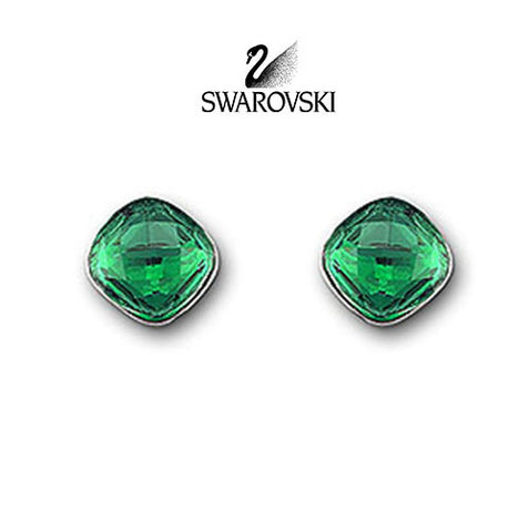 Swarovski Green Crystal JEWELRY LEA Emerald Pierced Earrings #1035237 - Zhannel