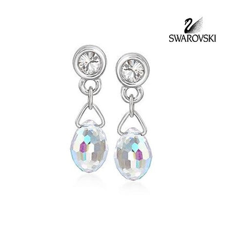 Swarovski Crystal Aurora Borealis Pierced Earrings  #959299 - Zhannel  - 1