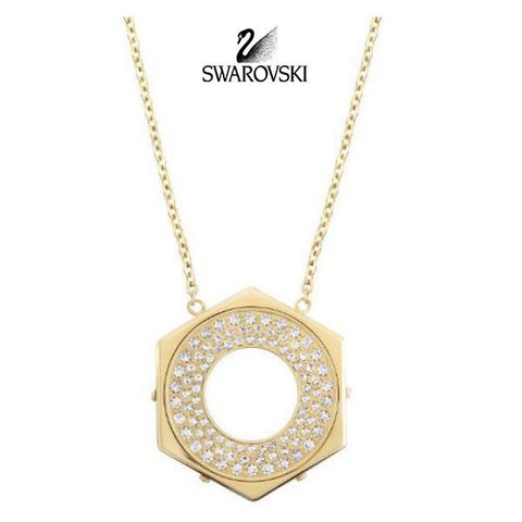 Swarovski Clear Crystal JEWELRY BOLT Pendant Necklace Gold Plated #5096636 - Zhannel  - 1