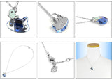 Swarovski Blue Crystal JEWELRY MINI CAT Pendant Necklace Light Sapphire #1003282 - Zhannel  - 2
