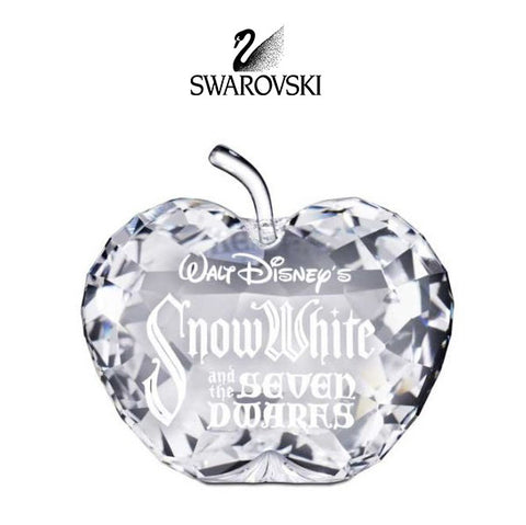 Swarovski Clear Crystal Apple Figurine Title Plaque SNOW WHITE #1016525 - Zhannel  - 1