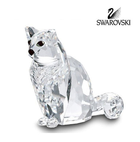Swarovski Clear Crystal Cat Figurine CAT SITTING HAND SIGNED BY ARTIST #160799 - Zhannel  - 1