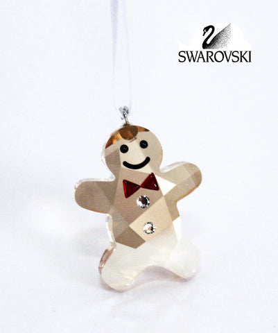 Swarovski Crystal Christmas Figurine Ornament TWINKLING GINGERBREAD MAN #5103229 - Zhannel  - 1