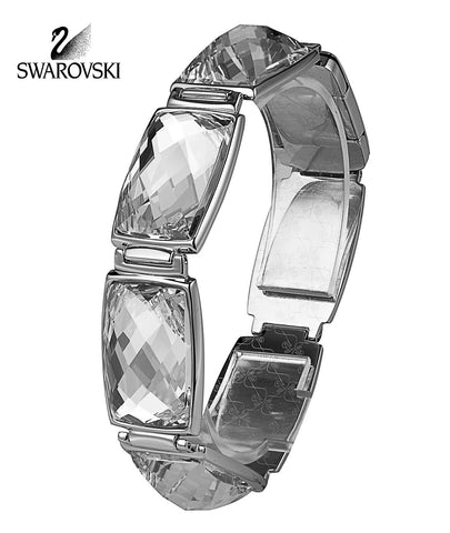 Swarovski Clear Crystal Jewelry NIRVANA Bracelet Large Rhodium 20cm #1166714 - Zhannel  - 1