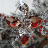 Swarovski Red & Clear Crystal Ornament WINTER BERRIES Light Siam Satin #5119879 - Zhannel  - 2