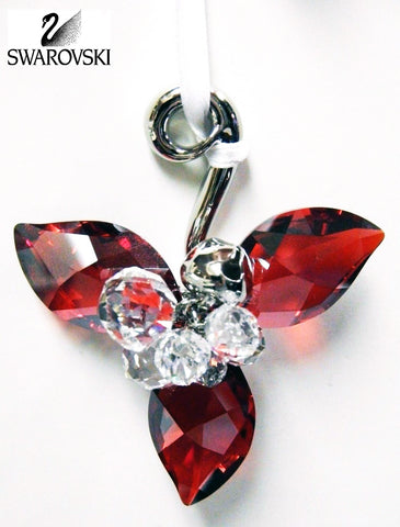 Swarovski Red & Clear Crystal Ornament WINTER BERRIES Light Siam Satin #5119879 - Zhannel  - 1