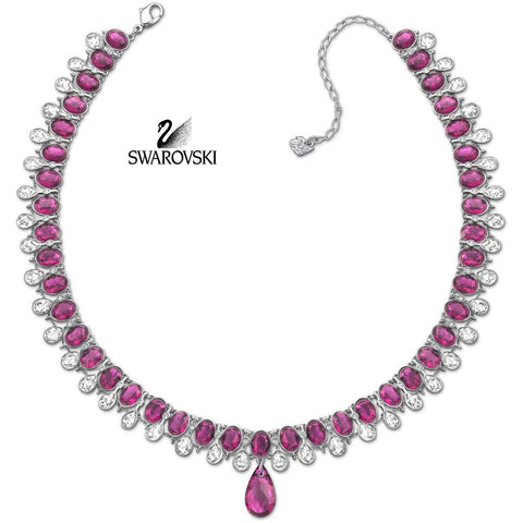 Swarovski Clear & Ruby Crystal Jewelry SPECTACULAR Collar Necklace #5030391 - Zhannel  - 1