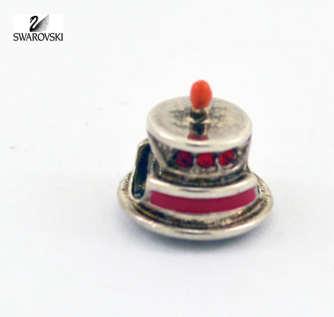 Chamilia Swarovski Sterling Silver Bead Charm Red Crystals CAKE TOWER - Zhannel  - 1