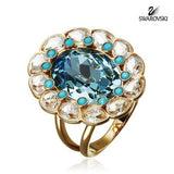 Swarovski Crystal Jewelry RING AZORE Sz 52 Small 6 #5037463 - Zhannel  - 1