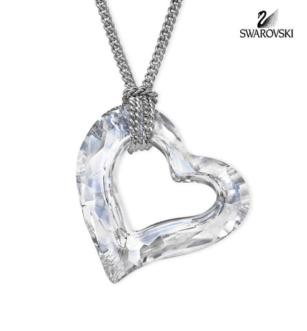Swarovski Clear Crystal LOVEHEART Small Pendant Necklace #5187361 - Zhannel