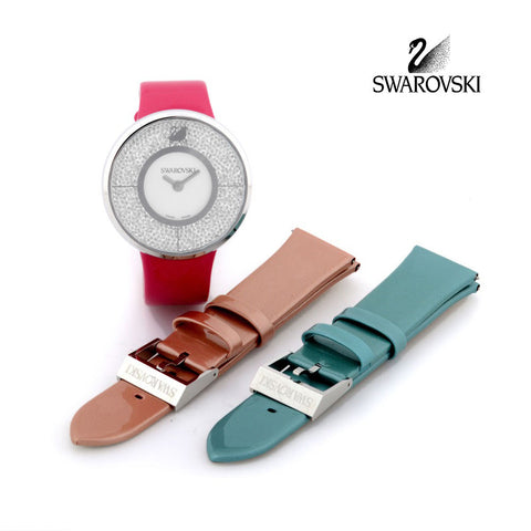 Swarovski Crystal Watch CRYSTALLINE SET With 2 Replaceable Belts #5096698 - Zhannel  - 1