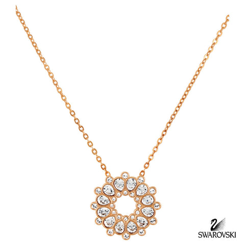 Swarovski Clear Crystal Jewelry ASSET Necklace Pendant Rose Gold #5048035 - Zhannel