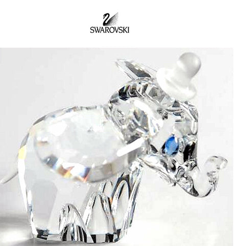Swarovski Clear Crystal Figurine Disney DUMBO with Blue Eyes #7640NR100001 - Zhannel  - 1