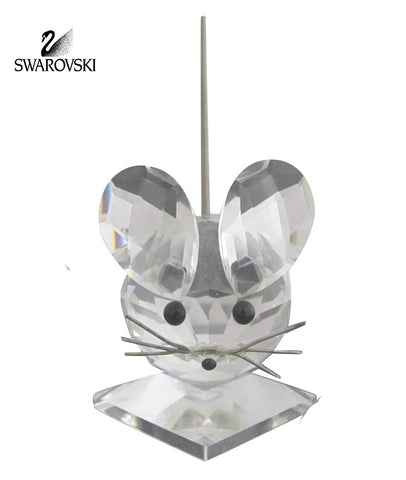 Swarovski Clear Crystal Figurine LARGE MOUSE Spring Cold Tail #7631 NR 040 000 - Zhannel  - 1