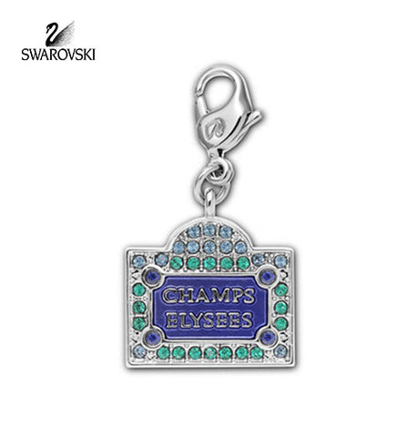 Swarovski Color Crystal Jewelry CHAMPS ELYSSES CHARM Rhodium #1111140 - Zhannel
