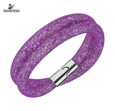 Swarovski Crystal Jewelry STARDUST Light Purple Double Bracelet Medium 5184791 - Zhannel