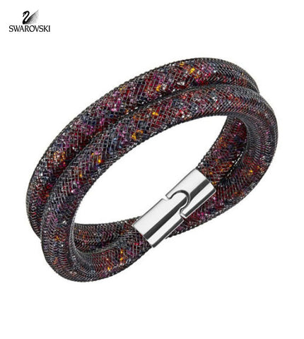 Swarovski Crystal STARDUST Dark Multi Color Double Bracelet Medium 5152144 - Zhannel  - 1