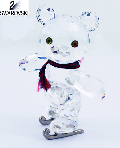 Swarovski Figurine KRIS BEAR ON SKATES w/Artist Signature #193011 - Zhannel  - 1
