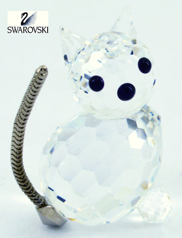 Swarovski Clear Crystal Figurine SITTING CAT #7659NR031000 - Zhannel  - 1