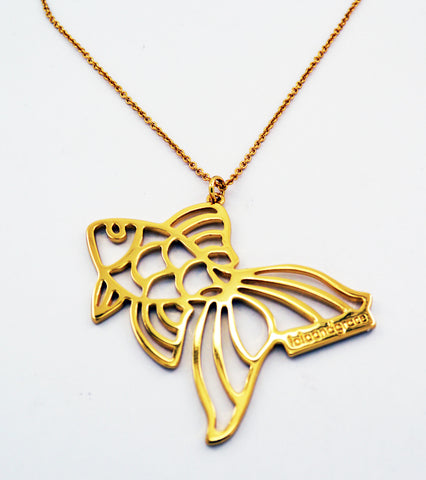 Lola & Grace Gold Tone LONG Necklace Animal FISH NECKLACE Pendant #5182979 - Zhannel  - 1