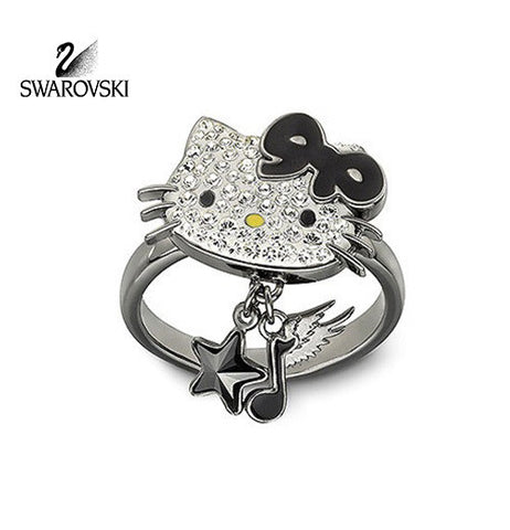 Swarovski Crystal Jewelry HELLO KITTY ROCK Ring Size: Large/8/58 #1145276 - Zhannel  - 1
