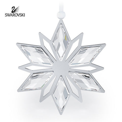 Swarovski Clear Crystal Christmas Ornament SILVER STAR #5064261 New - Zhannel  - 1