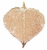 Real Leaf PENDANT ASPEN Dipped in Rose Gold - Zhannel  - 1