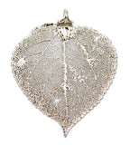 Real Leaf PENDANT ASPEN Dipped in Platinum - Zhannel  - 1